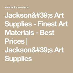 Jackson's Art Supplies - Finest Art Materials - Best Prices | Jackson's Art Supplies