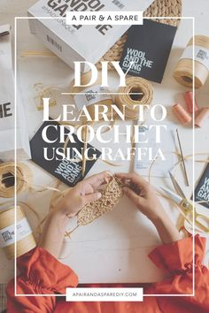Learning to Crochet Using Raffia with Wool & The Gang! Raffia Crafts, Yarn Crafts, Crochet Leaves, Crochet Yarn, Crochet Purses, Diy Sewing Projects, Crochet Projects, Crochet Ideas, Crochet Patterns