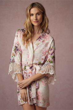 BHLDN Floraline Robe in  Bride Bridal Lingerie Chemises & Robes at BHLDN