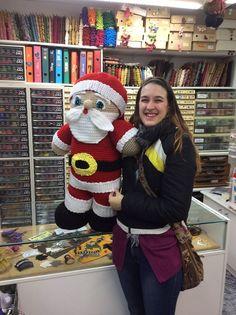 Espectacular el pare noel que ens ha portat la Montse Boix. Quina gran creació! #nadal #parenoel #madeyourself