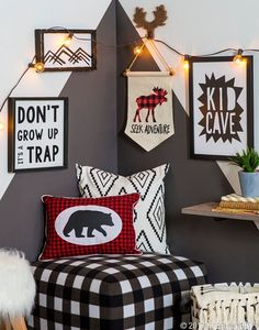 Couple fun patterns with woodland decor for a kid cave that really pops! 22 Outstanding Modern Decor Ideas You Will Definitely Want To Save – Couple fun patterns with woodland decor for a kid cave that really pops! Woodland Room, Woodland Decor, Woodland Party, Boys Room Decor, Kids Bedroom, Boys Hunting Bedroom, Bedroom Ideas, Bedroom Designs, Nursery Ideas