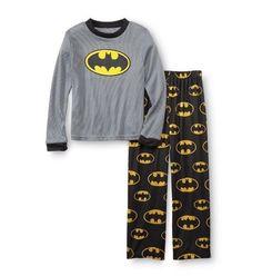 NEW BOYS 2 PIECE PAJAMA LONG PANT SET BATMAN SIZE 2T DC COMICS COSTUME NWT MASK
