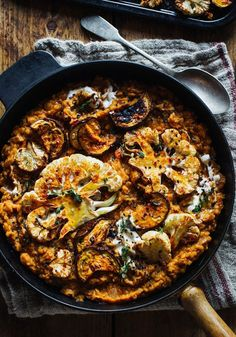 Smokey Lentils with Harissa Roast Cauliflower & Aubergine - Rebel Recipes - Vegan meals - Country Food Veggie Dishes, Veggie Recipes, Whole Food Recipes, Cooking Recipes, Healthy Recipes, Lentil Recipes, Meze Recipes, Pine Nut Recipes, Picnic Recipes