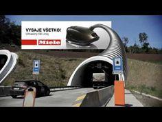 Outdoor virtual promove potência de aspirador na Eslováquia.