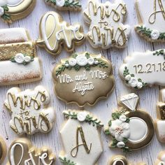 bridal shower decorations 434315957816575967 – Lively Joy Cookies & Co. Green Bridal Showers, White Bridal Shower, Bridal Shower Rustic, Wedding Shower Cookies, Cookies For Wedding, Engagement Cookies, Fancy Cookies, Sugar Cookies, Wedding Desserts