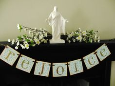 christian easter decoration REJOICE banner sign by bekahjennings