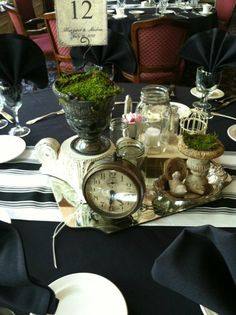 chic table settings-each one was different!
