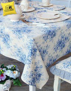 Tovaglia Floreale della Collezione Blue Garden