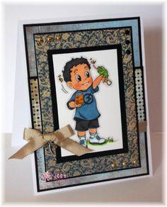 Handmade Card using an Inky Impressions image