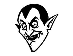 Dibujo de Cabeza de Conde Drácula para Colorear