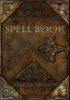 I'm starting this board to collect a hoard of beautifully illustrated pages, spells in calligraphy etc. that I will gather together, age and distress, and hopefully construct a cover like this one.
