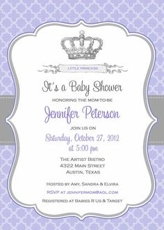 Baby+Shower+Invitation++Princess+Crown+for+Girl+by+BellePrintables,+$12.50