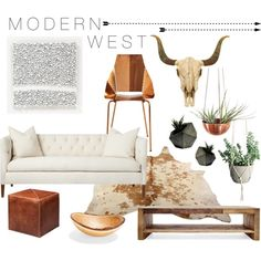 West of Texas by stylistnikilips on Polyvore featuring interior, interiors, interior design, home, home decor, interior decorating, Verge, Jamie Young, Blu Dot and Rough Fusion