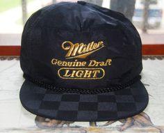 Vintage SNAPBACK  / Miller Light Hat / Flat by skinsvintagefashion, $15.00
