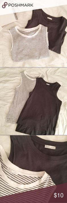 6b33eb5087014  Zara  Grey cotton tank Excellent used condition. This listing is for the  grey