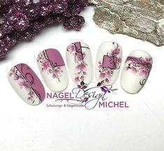 Nail Art Hacks, Gel Nail Art, Christmas Nail Designs, Christmas Nails, Winter Nails, Spring Nails, Art Deco Nails, Romantic Nails, Nail Stencils
