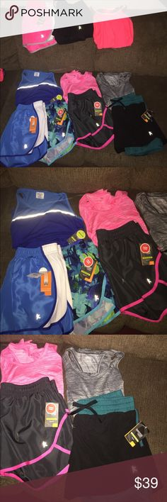 10 Pc Lot Danskin shorts/tanks NEW! Medium 6 Pr women's Danskin/Avia shorts AND 4 women's Danskin/Avia tanks- all medium (8-10). All brand new w/tags & smoke free home.  Price on shorts are $8-$10 ea./tanks are $8. Retail is approx. $80. Danskin Shorts