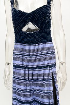 """""""Midnight Blue"""" by Rebecca Taylor - Designers Construct Crayon-Inspired Looks for New York City Bloomingdale's"""