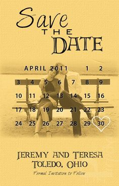 if I could do it over again, I would do save the dates