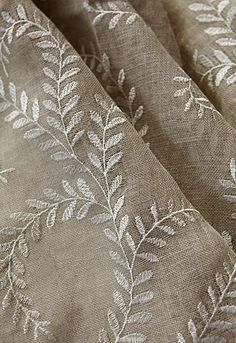 linen vines (This Ivy House) Textiles, Greige, Farmhouse Fabric, Fresh Farmhouse, Art Du Fil, Ivy House, Linens And Lace, Fabric Wallpaper, Soft Furnishings
