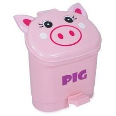 Piggy trash can