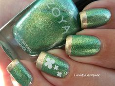 St Patrick's Day nails.