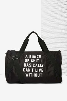 Danielle Guizio Important Sh*t Duffel Bag | Shop Back In Stock at Nasty Gal