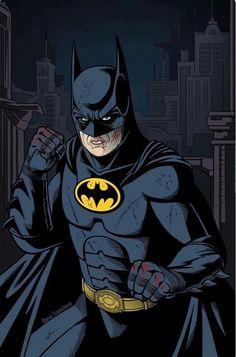 Michael Keaton as Batman art Batman Dark, Batman The Dark Knight, Batman Vs Superman, Batman Robin, Spiderman, Funny Batman, Batman Artwork, Batman Wallpaper, Batman Returns