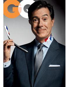 "GQ to feature Stephen Colbert as ""Patriot of the Year"" on December 2010 cover Stephen Colbert, Joe Biden Kids, We Heart It, Landon Donovan, Jonathan Franzen, Jon Stewart, Gq Men, Gq Magazine, Magazine Covers"