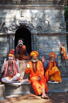 sadhus, pashupatinath temple, kathmandu, nepal #hindu