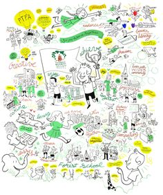 forest school wall illustration