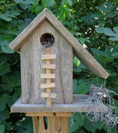 Weathered Cedar Barn Style Birdhouse by SwampwoodCreations on Etsy