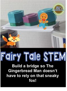 Students will build a bridge for the gingerbread man using only one index card. Fairy Tale STEM from More Than a Worksheet! $