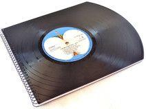 Gästebuch *BEATLES* aus Schallplatte upcycling