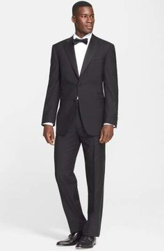 cefcc2c7f Canali 13000 Classic Fit Wool   Mohair Tuxedo Modern Tuxedo