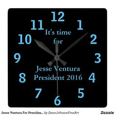 Sold: Jesse Ventura For President 2016 Clock