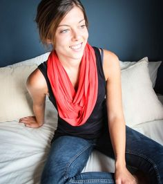 Show her you care with this lovely red cotton t-shirt necklace. Shop @ www.wave2africa.com