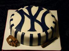 Faithy Cakes - New York Yankees baseball birthday cake