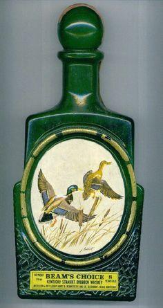 THE MALLARD DUCK Art Deco JIM BEAM Beams Choice Antique Whiskey Decanter Bottle
