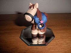 This little horse would make the perfect cake topper for a special ones birthday or someone who loves horses. It is a keepsake that will be