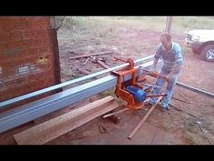 Homemade Tools, Diy Tools, Motor A Gasolina, Bandsaw Mill, Chainsaw Mill, Wood Lumber, Wood Slab, Machine Design, Metal Working