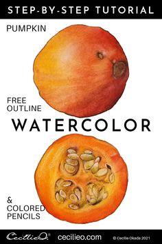 Watercolor Tutorials Archives - Cecilie Okada Design Watercolor Beginner, Watercolor Paintings For Beginners, Watercolor Tips, Acrylic Painting Tutorials, Watercolour Tutorials, Watercolour Techniques, Watercolor Artists, Drawing Tutorials, Art Tutorials