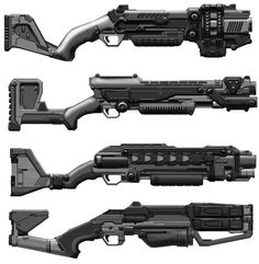 Charged Shotgun concept art from #Defiance.