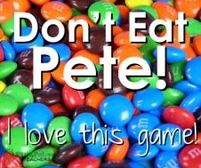 Don't Eat Pete! (Fun Party Game) - Don't Eat Pete! (Fun Party Game) This game is one of my favorite games ever. It's killer easy and it's way fun. You can use candy (M&Ms are my favorite) or any other type of marker (I've used Cheerios, Goldfi… Group Games For Kids, Easy Games For Kids, Kids Church Games, Fun Games For Adults, Family Games Indoor, Games To Play With Kids, Family Fun Games, Kids Fun, Parlor Games For Adults