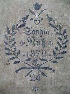 ANTIK Mehlsack SOPHIA Kuß 1872 Leinen Leinensack FRENCH SHABBY JDL