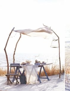 Beach tablescape from Sweet Paul Magazine Summer 2012
