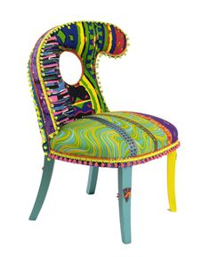 1950's Slipper Chair by Apryl Miller #fun #funky #furniture