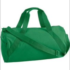 Green Gym Workout School Fitness Duffle Book Bag Medium size bag great for use as a workout, fitness or gym bag, work bag or school bag. Has a single zippered main compartment. Outside zippered pocket. Diagonal durable webbing handle. Detachable/adjustable sturdy shoulder strap. If you are interested in purchasing one or all of the Turbo Fire DVDs please comment lmk. Post is for duffle bag NOT other items in pictures. Bags Shoulder Bags