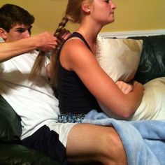 Look at how much concentration and energy is going in to that braid. Lol :)
