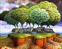 Jacek Yerka  Great idea to marry with Wow Grand Canyon for grades 5 or 6...